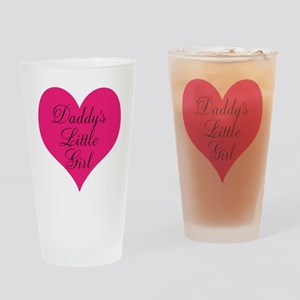 Daddys Little Girl Large Heart Drinking Glass