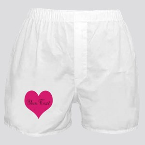Personalizable Pink and Black Heart Boxer Shorts