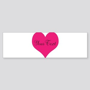 Personalizable Pink and Black Heart Bumper Sticker