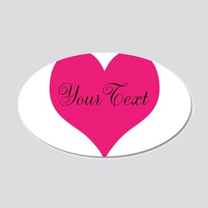 Personalizable Pink and Black Heart Wall Decal