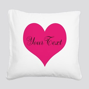 Personalizable Pink and Black Heart Square Canvas