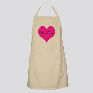 Personalizable Pink and Black Heart Apron