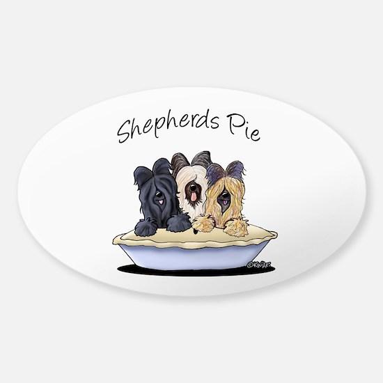 Shepherds Pie Sticker (Oval)