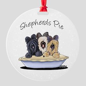 Shepherds Pie Round Ornament