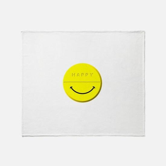 Happy Pill Throw Blanket