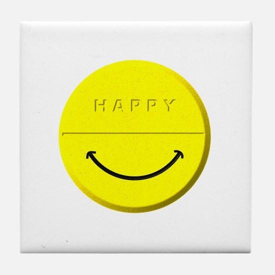 Happy Pill Tile Coaster