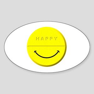 Happy Pill Sticker (Oval)
