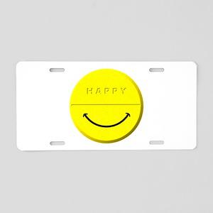 Happy Pill Aluminum License Plate