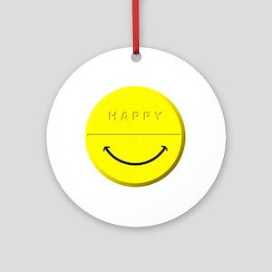Happy Pill Ornament (Round)