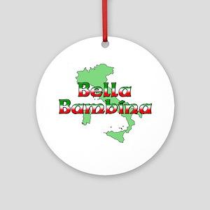Bella Bambina Ornament (Round)