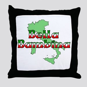 Bella Bambina Throw Pillow