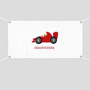 Personalised Red Racing Car Banner