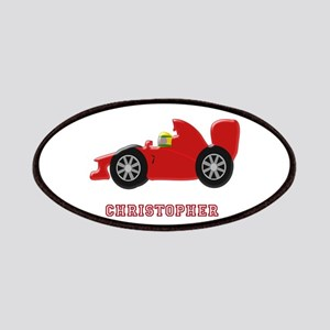 Personalised Red Racing Car Patches
