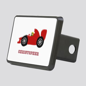 Personalised Red Racing Car Rectangular Hitch Cove
