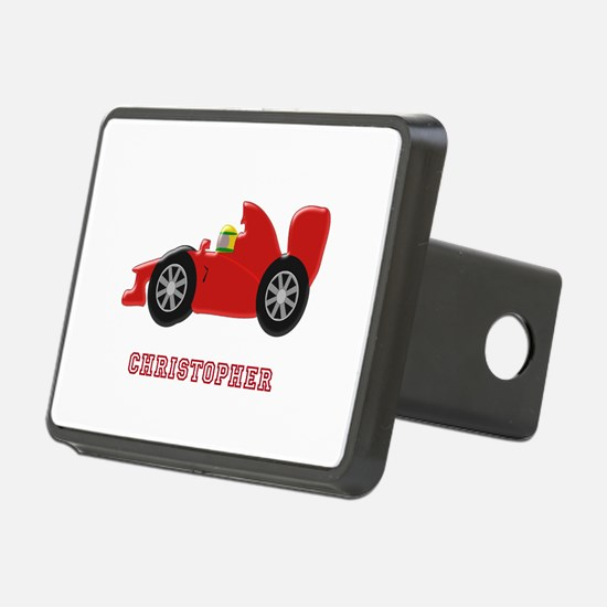 Personalised Red Racing Car Hitch Cover