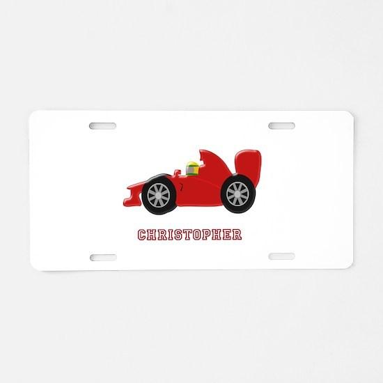 Personalised Red Racing Car Aluminum License Plate