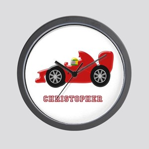 Personalised Red Racing Car Wall Clock