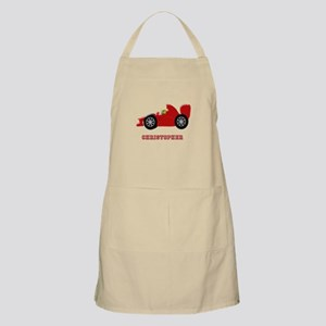 Personalised Red Racing Car Apron