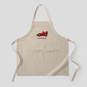 Personalised Red Racing Car Apron