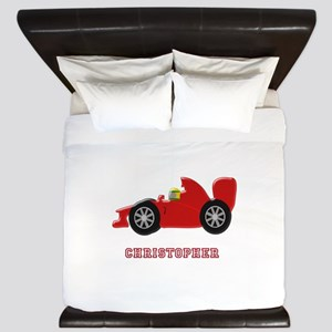Personalised Red Racing Car King Duvet