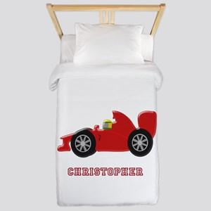 Personalised Red Racing Car Twin Duvet