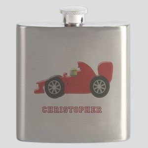 Personalised Red Racing Car Flask