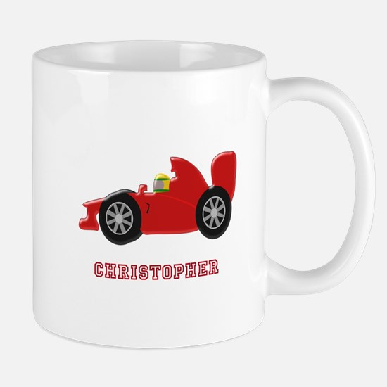 Personalised Red Racing Car Mugs