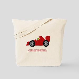 Personalised Red Racing Car Tote Bag