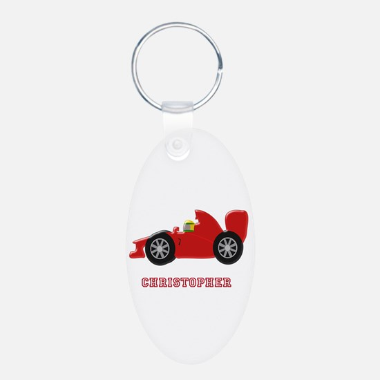 Personalised Red Racing Car Keychains
