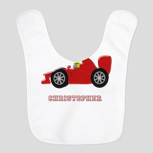 Personalised Red Racing Car Bib