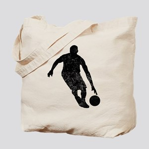 Distressed Basketball Player Silhouette Tote Bag