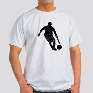 Distressed Basketball Player Silhouette T-Shirt