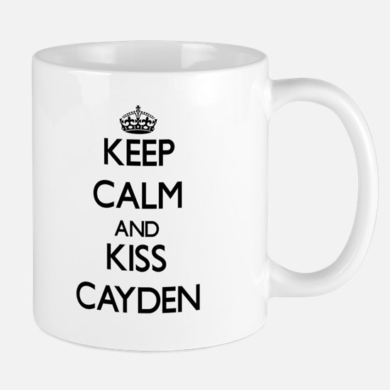 Keep Calm and Kiss Cayden Mugs