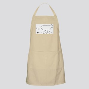 Rather Play with my Cat BBQ Apron