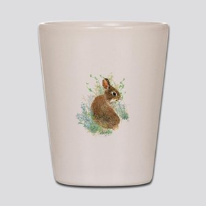 Cute Watercolor Bunny Rabbit Pet Animal Shot Glass