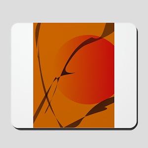 Oriental Sunset Japanese Wood Block Print Style Mo