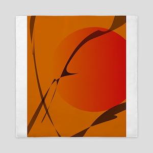 Oriental Sunset Japanese Wood Block Print Style Qu