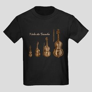 Viola da Gamba Kids Dark T-Shirt