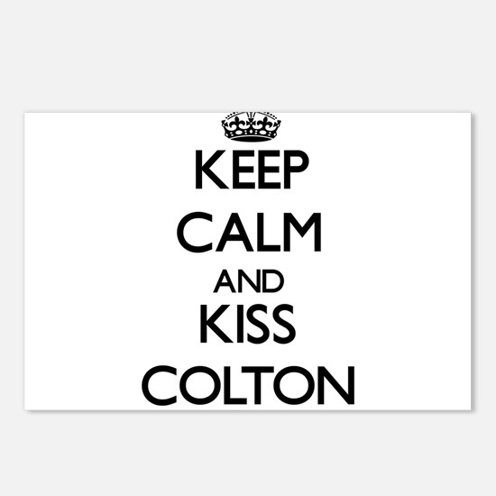 Keep Calm and Kiss Colton Postcards (Package of 8)