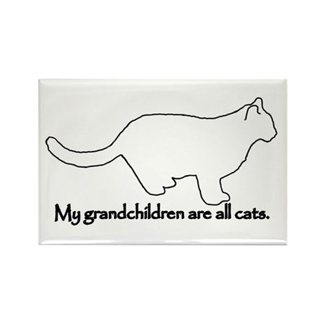 Grandchildren are Cats Rectangle Magnet