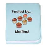 Fueled by Muffins baby blanket