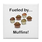 Fueled by Muffins Tile Coaster