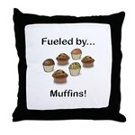 Fueled by Muffins Throw Pillow