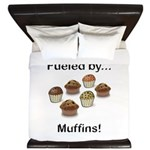 Fueled by Muffins King Duvet