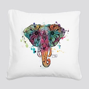 Haathi Square Canvas Pillow