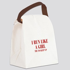 I-run-like-a-girl bod Canvas Lunch Bag