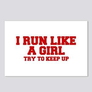 I-run-like-a-girl-FRESH Postcards (Package of 8)