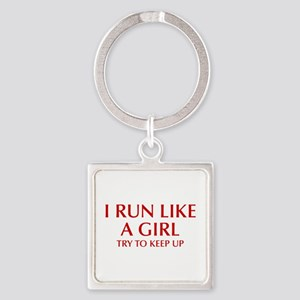 I-run-like-a-girl-OPT Keychains