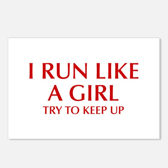 I-run-like-a-girl-OPT Postcards (Package of 8)