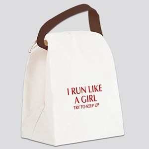 I-run-like-a-girl-OPT Canvas Lunch Bag